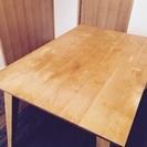無垢 オイルフィニッシュのダイニングテーブル
