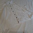 トロミシャツ 白