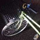 自転車 ライトグリーン色 変速機なし 26インチ 美品❇