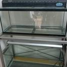 値下げ!【お得】アクアリウム用品(90cm水槽セット、水槽台付き、...