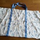 青×白 蜜蜂&花柄 布団袋