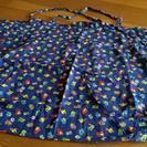 青×恐竜 布団袋