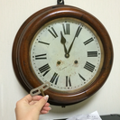 【ぜんまい時計】アンティークなボンボン時計