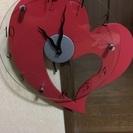 ハート型 掛け時計。