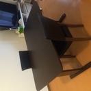 ダイニングテーブルセット/ブラウン/椅子2つ