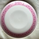 ピンクの可愛いお皿