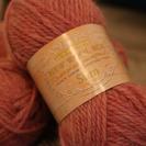 ピンクの毛糸3玉