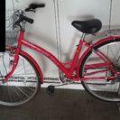 27インチ 5段変速 ピンクの中古自転車です