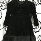 シャーリーテンプル 黒ドレス 110㎝