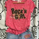 ピンクラテのTシャツとショートパンツ