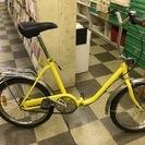 [3601]折りたたみ自転車 20インチ シングル イエロー