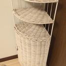 【三角コーナーラック】ホワイト!空間活用に☆