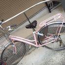 Panasonicの自転車、ピンクでなかなかかわいいです👍