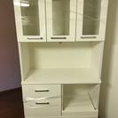 【美品】キッチンボード 食器棚 ホワイト