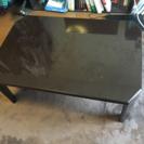 茶色の折れ脚テーブル