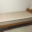 すのこベッド(シングル)とマットレス