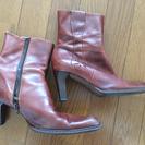 ブーツ(本革、茶、中古)