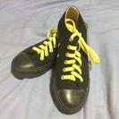 靴紐選べます!Mサイズキャンパススニーカー黒