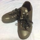 靴紐選べます!美品23.5キャンパススニーカー黒