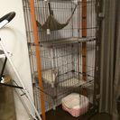 【無料】猫 高級三段ゲージ 柱型爪とぎ トイレ