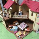 シルバニアファミリー  ♫大きなお家・幼稚園・園バスのセット♫