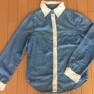 【お取引中】【0円】デニム×レースシャツ☆小さめのLサイズ