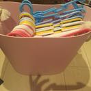 洗濯物カゴ➕ハンガー(新品同様)