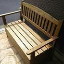 収納付き ガーデンベンチ