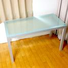 無印良品 アルミフレームガラステーブル