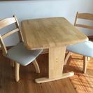 ニトリ 2人掛ダイニングテーブル&椅子セット ナチュラル