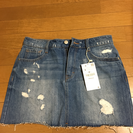ZARA クラッシュデニムのスカートです。