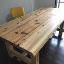テーブル(杉・天然木材の無垢)
