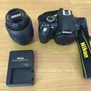 Nicon D3100 本体、充電器、レンズ付き