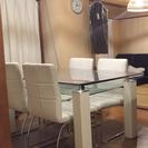 4人掛けダイニングテーブルと椅子セット!