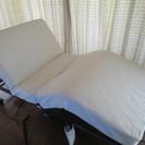 【新古品】アイリスオーヤマ電動折りたたみコイルリクライニングベッド...