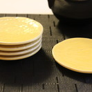 黄色い小皿(和食器直径11㎝)美品