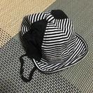 ベビー帽子 黒 42cm