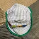 ベビー 帽子 緑 46cm