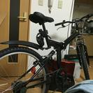 折りたたみ自転車 27インチ 後輪パンクあり