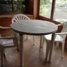 プラスチックテーブル&イス、もらっ...