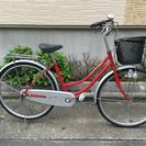 中古自転車 26インチ 赤!