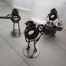 オーケストラ 金属製カエルの置き物 3個 インテリア 東京吉祥寺 菊屋