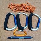 大型カナビラとロープのセット
