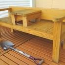 ★値下げ!!&早いもの勝ち!!手作り・木製の2人用ベンチ・横幅15...
