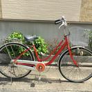 中古自転車 26インチ レッド!
