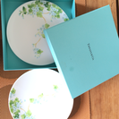 TIFFANY&CO. リーフコレクション デザートプレート2枚セット