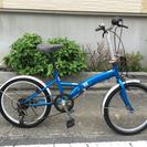 中古折りたたみ自転車 20インチ  ブルー!