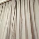 [中古美品] MUJI(無印良品)綿平織プリーツカーテン200cm×2枚