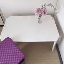 白いローテーブル 折りたたみ式
