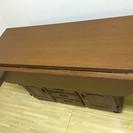 カウンター 対面 テーブル(収納付き)